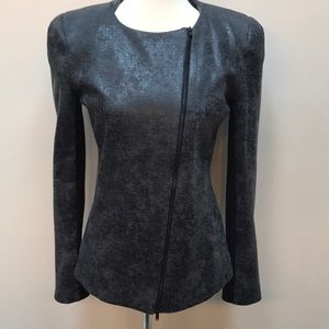 Robbi & Nikki Textured Moto Jacket Size Medium